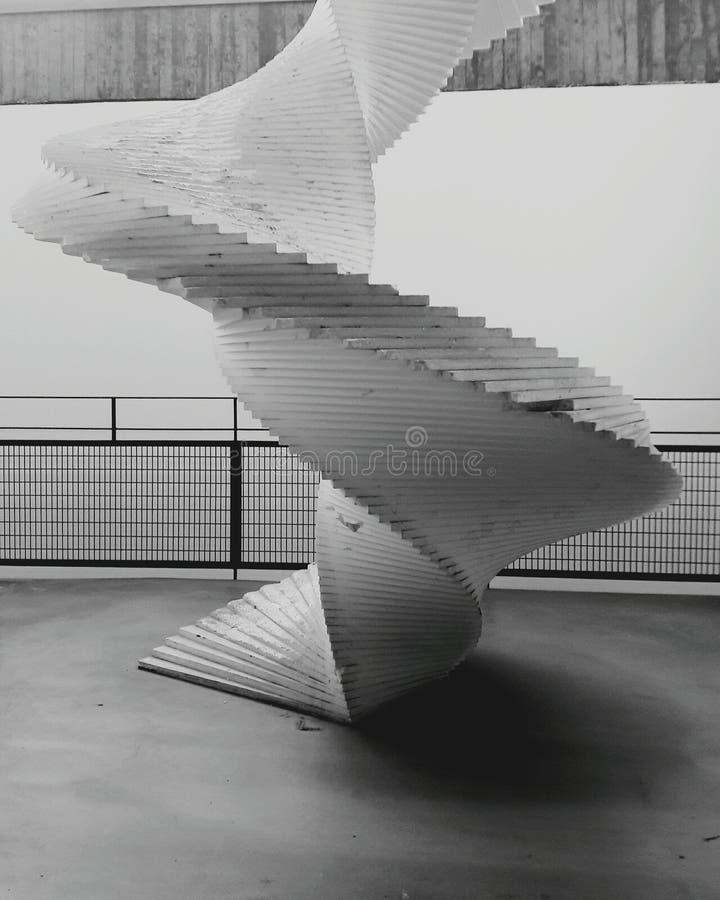 verbazende trappen stock fotografie