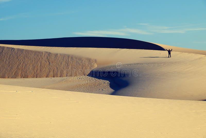 Verbazende zandheuvel aan avonturenreis voor de zomerreis stock afbeeldingen