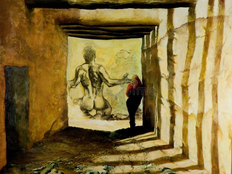 Verbeelding van tunnel royalty-vrije illustratie