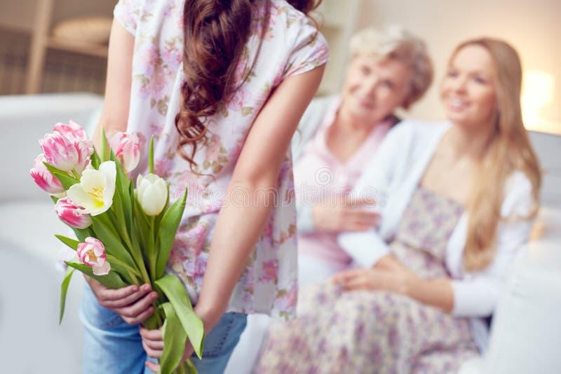 Verbergende bloemen stock afbeelding