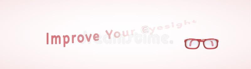Verbessern Sie Ihr Sehvermögen lizenzfreie abbildung