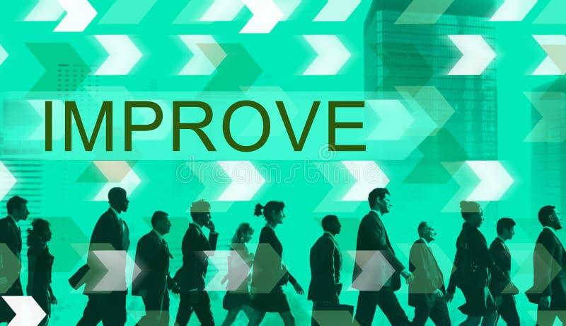 Verbessern Sie Verbesserungs-Entwicklungs-besseres Änderungs-Konzept stockfotos