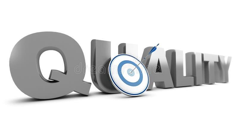 Verbessern von Qualitäts-Standards stock abbildung