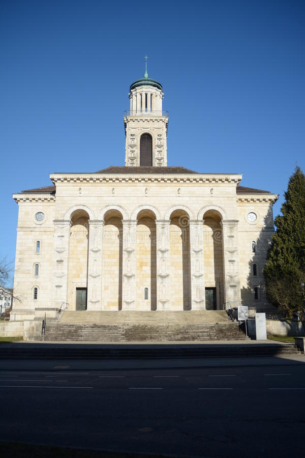 Verbesserte Kirche Solothurn lizenzfreie stockbilder