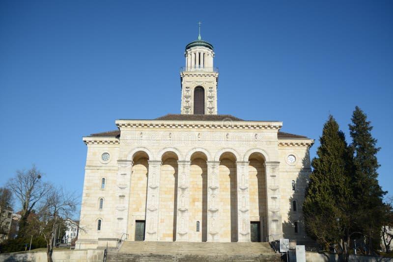 Verbesserte Kirche Solothurn stockfotos