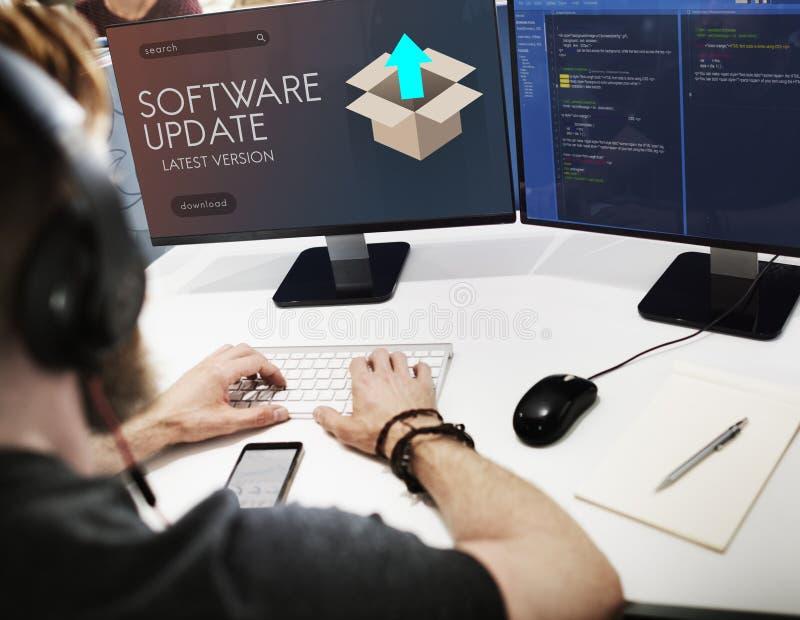 Verbesserungs-Aktualisierungs-neue Versions-besseres Grafik-Konzept lizenzfreies stockbild