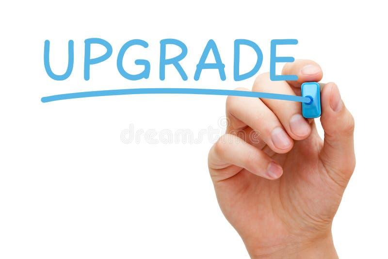 Verbesserungs-Blau-Markierung lizenzfreies stockbild