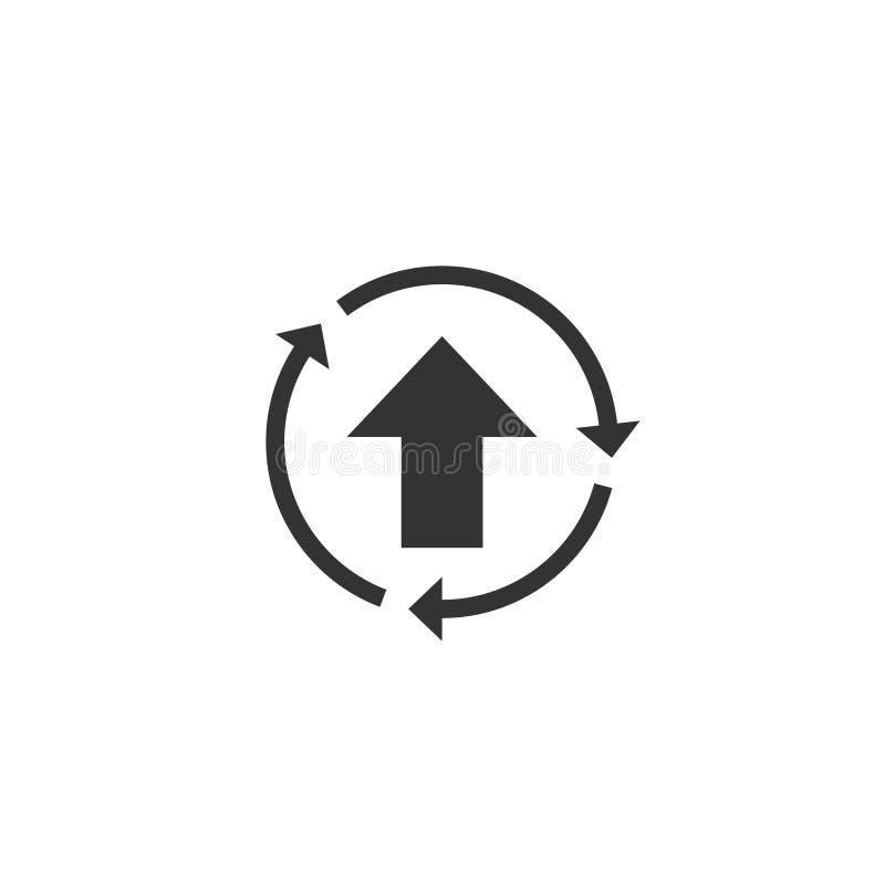 Verbeter pictogram in eenvoudig ontwerp Vector illustratie stock illustratie