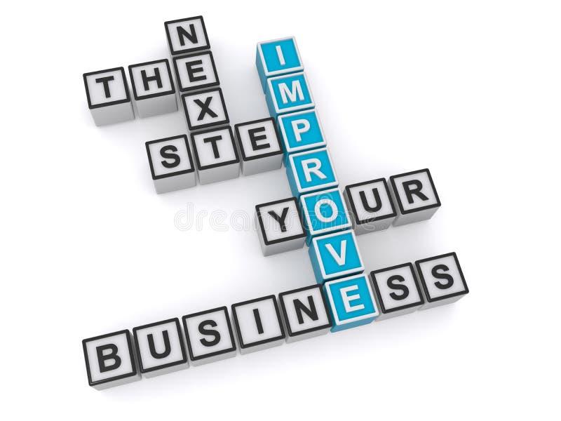 Verbeter uw bedrijf de volgende stap stock illustratie