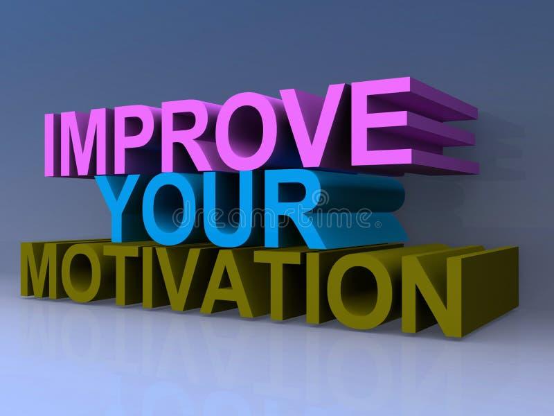 Verbeter uw motivatieillustratie vector illustratie