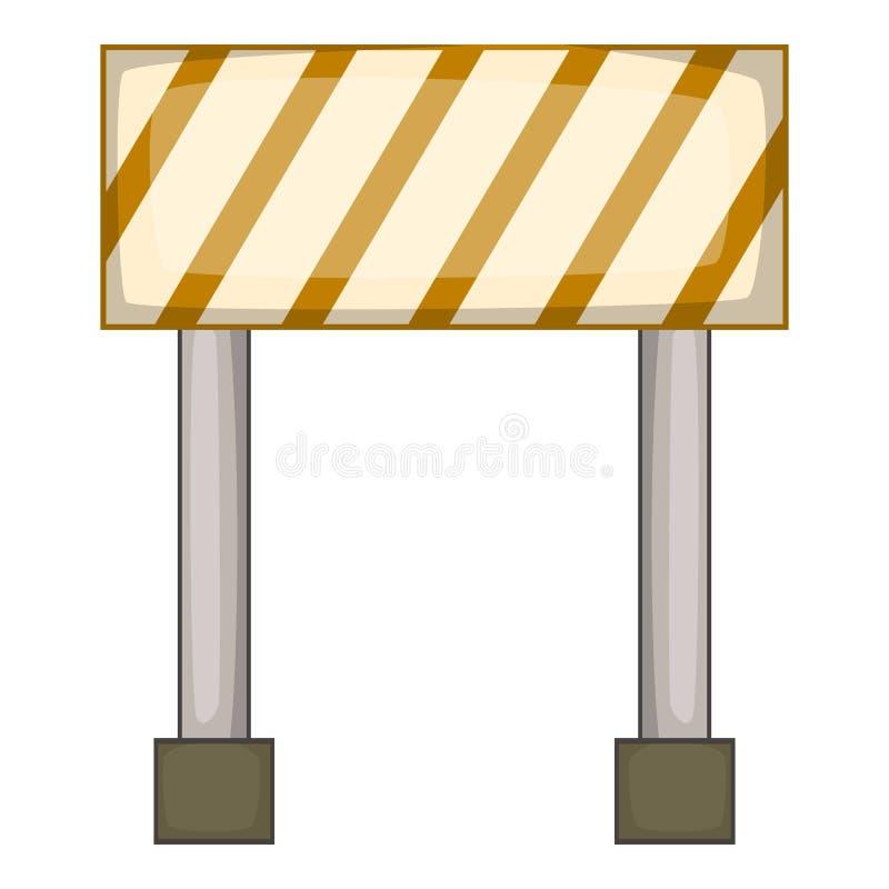 Verbiedend verkeerstekenpictogram, beeldverhaalstijl vector illustratie