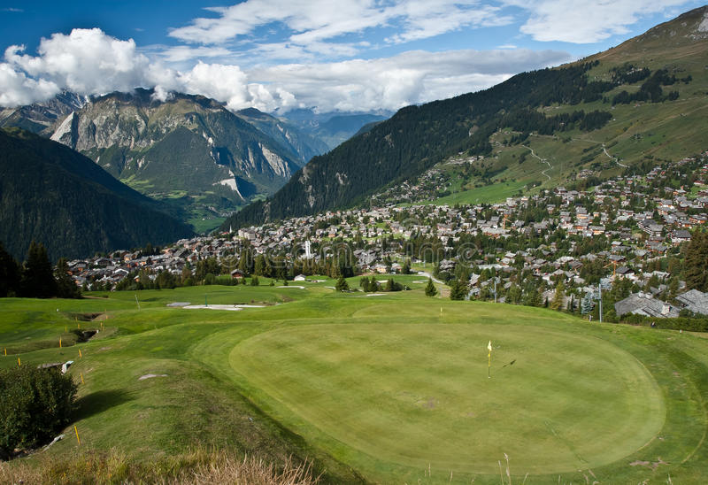 Verbier e golf fotografie stock libere da diritti