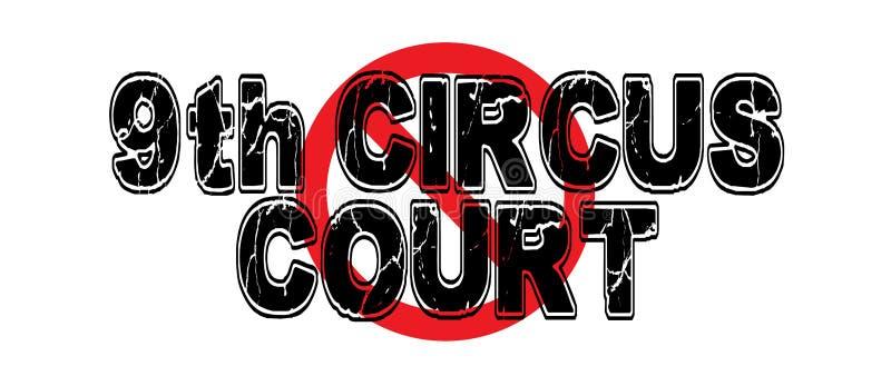 Verbieten Sie 9. Zirkus-Gericht lizenzfreie abbildung