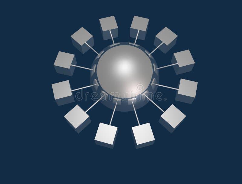 Verbind stock illustratie