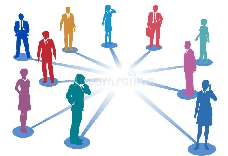 Verbind de aansluting van het bedrijfsmensennetwerk royalty-vrije illustratie