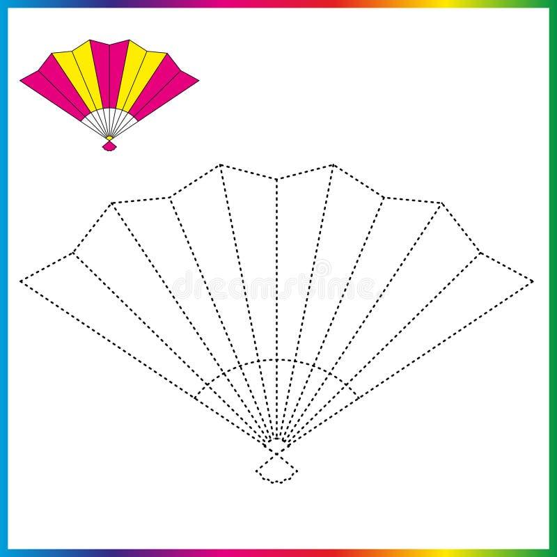 Verbind de punten en de kleurende pagina Aantekenvel - spel voor jonge geitjes Herstel gestormde lijn - vind spel voor kinderen stock illustratie