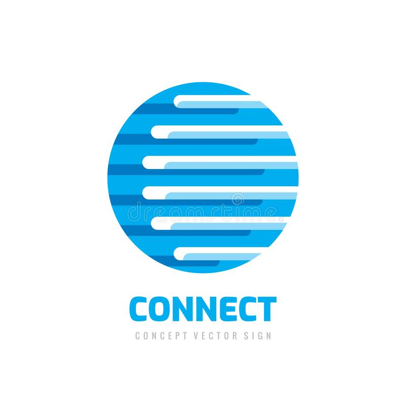 Verbind - de vectorillustratie concepten van het bedrijfsembleemmalplaatje Abstract bol creatief teken Digitaal Technologiepictog stock illustratie