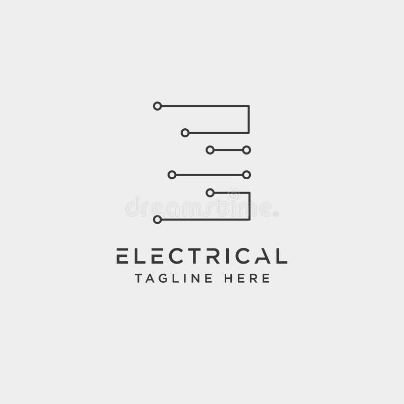 verbind of elektroe-vector ge?soleerd het pictogramelement van het embleemontwerp stock illustratie