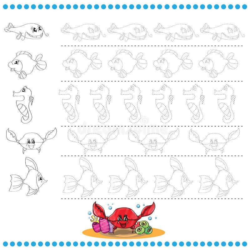 Verbind het puntenaantal beelden - oefen uit voor stock illustratie