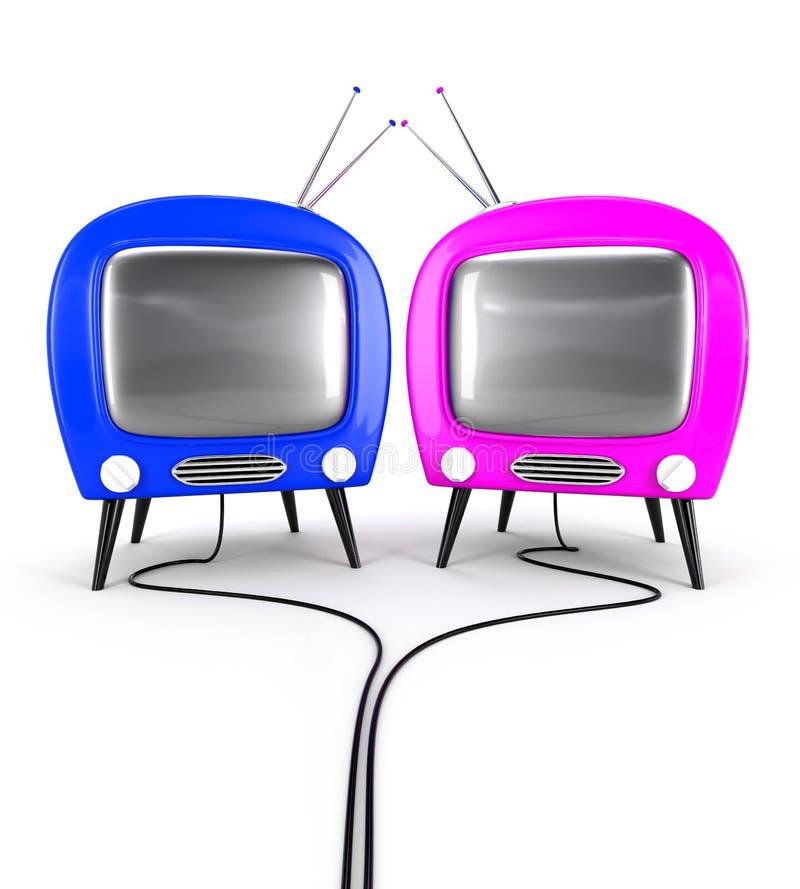 Verbinden Sie Fernsehapparat lizenzfreie abbildung