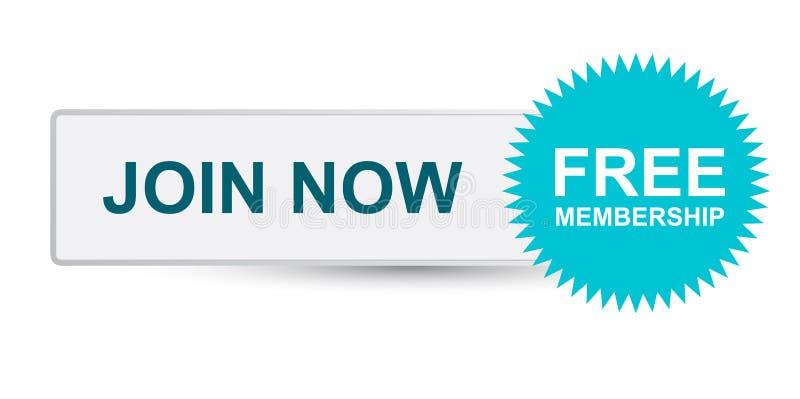 Verbinden Sie jetzt und genießen Sie freie Mitgliedschaft stock abbildung
