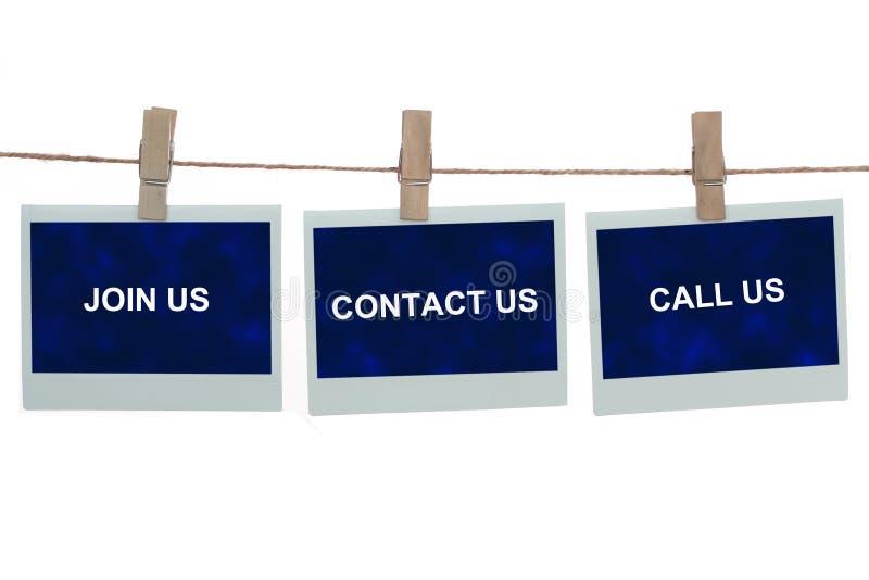 Verbinden Sie uns in Kontakt bringen uns anrufen uns stockfotos