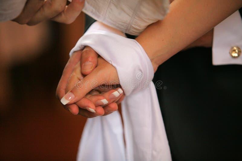 Verbindende Handen stock afbeeldingen
