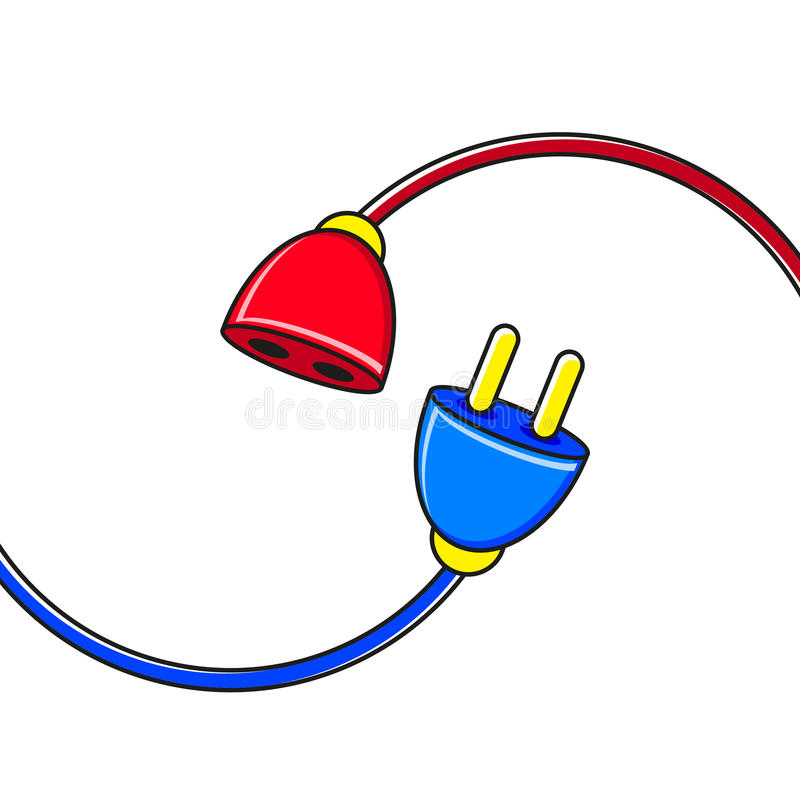 Verbindende kabel royalty-vrije illustratie