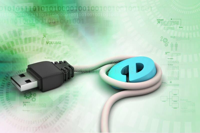 Verbindende kabel stock illustratie