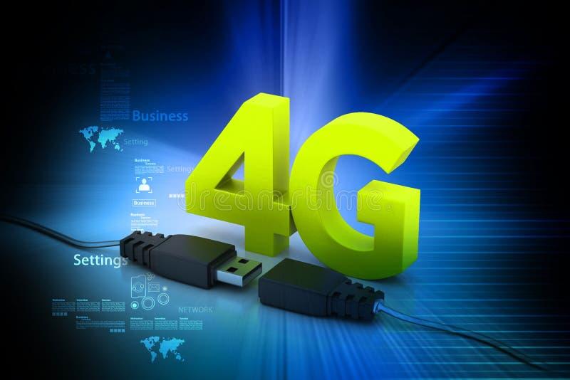 Verbindende kabel met 4g vector illustratie
