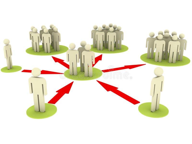 Verbindende mensen stock illustratie
