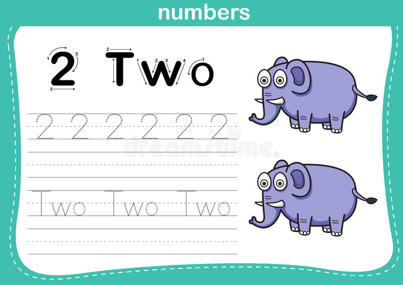 Verbindende punt en voor het drukken geschikte aantallenoefening vector illustratie