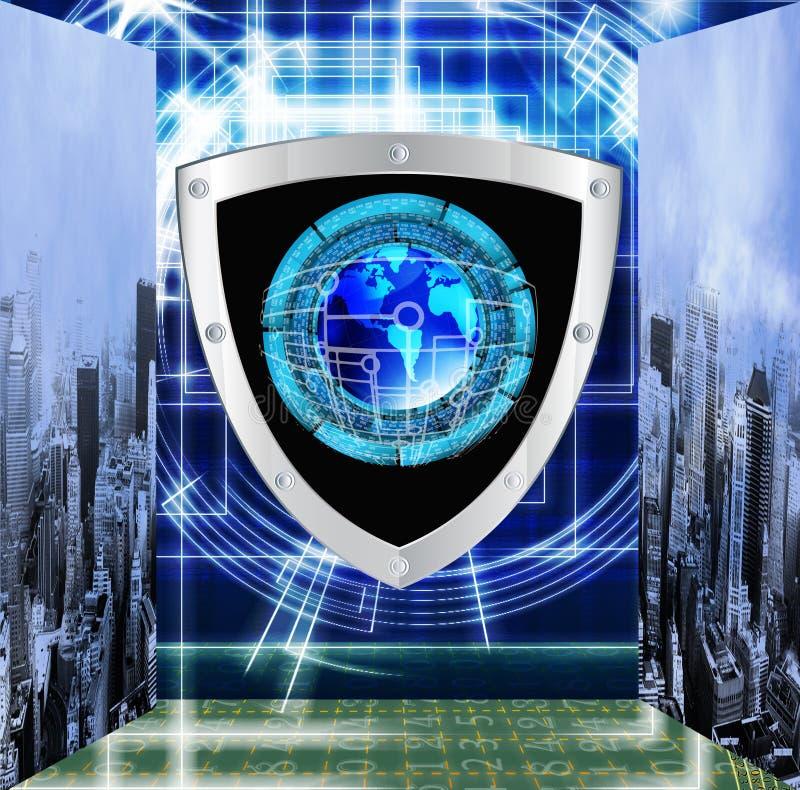 Verbinding. Cybersecurity stock foto
