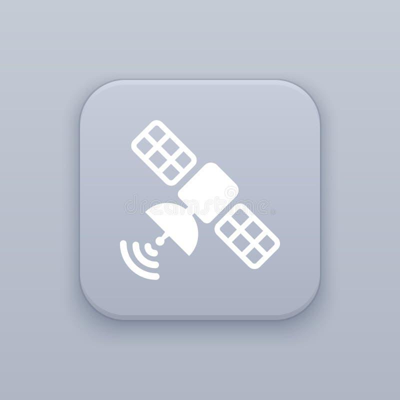 Verbinding, satellietknoop, beste vector op een grijze achtergrond, EPS 10 stock illustratie