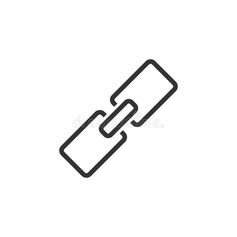 Verbinding, url lijnpictogram Eenvoudige, moderne vlakke vectorillustratie voor mobiele app, website of Desktop app stock illustratie