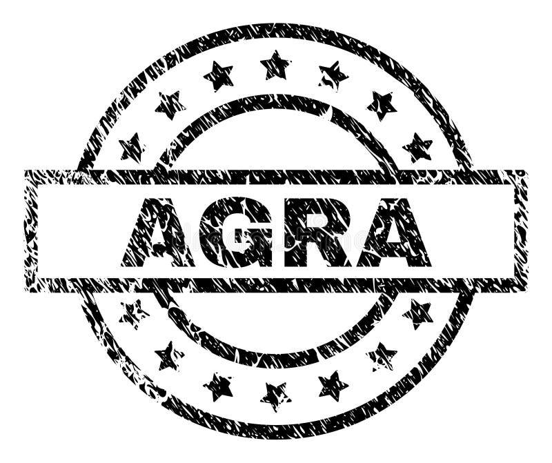 Verbinding van de Grunge de Geweven AGRA Zegel vector illustratie