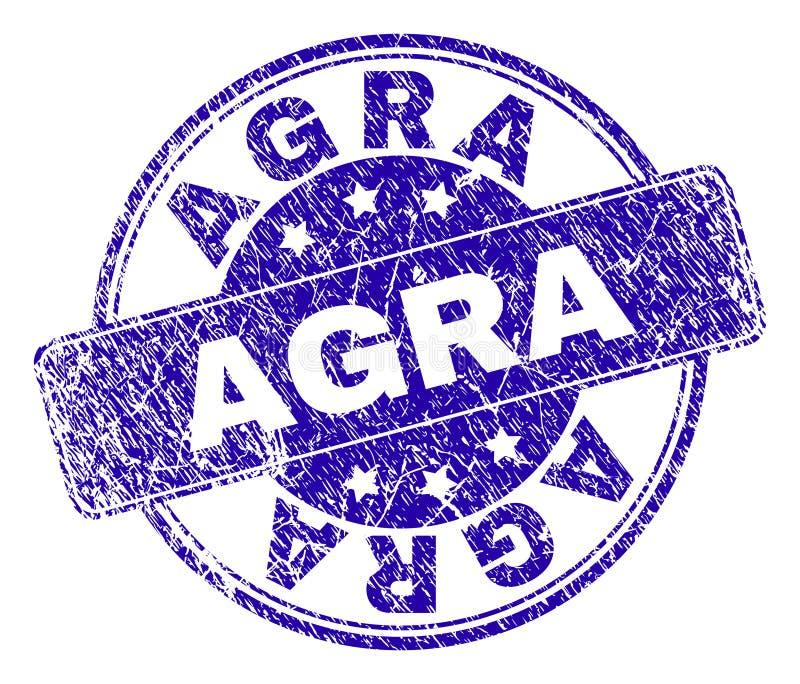 Verbinding van de Grunge de Geweven AGRA Zegel royalty-vrije illustratie