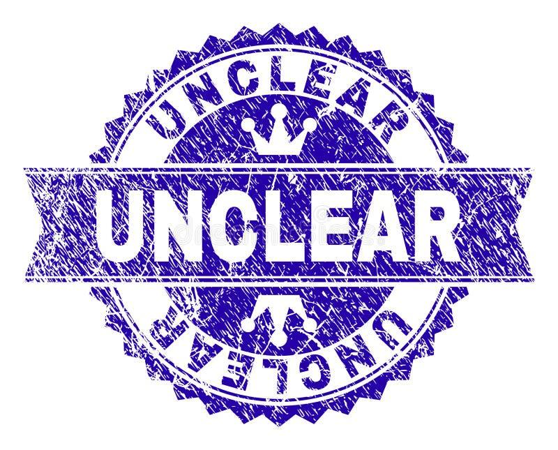 Verbinding van de Grunge de Geweven ONDUIDELIJKE Zegel met Lint royalty-vrije illustratie