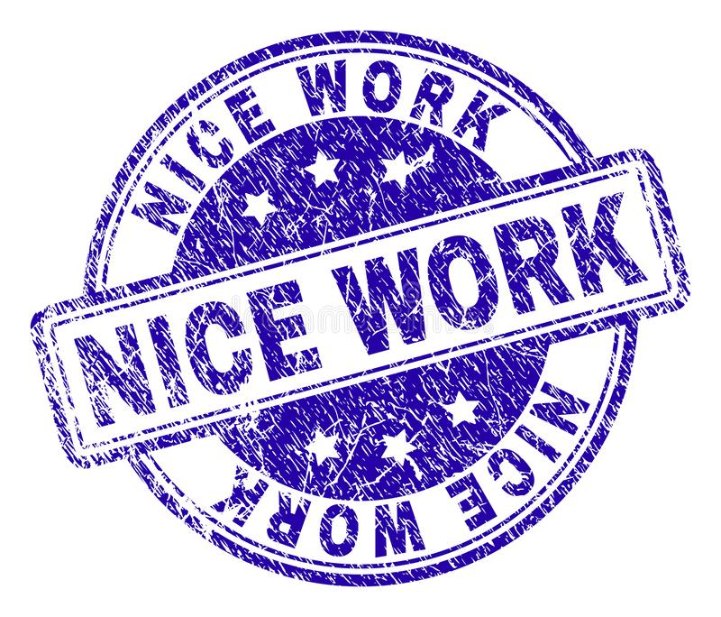 Verbinding van de het WERKzegel van Grunge de Geweven NICE royalty-vrije illustratie