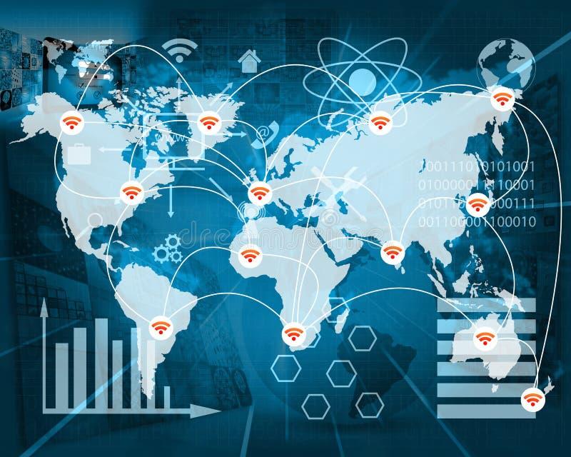 Verbinding van de wereld stock illustratie
