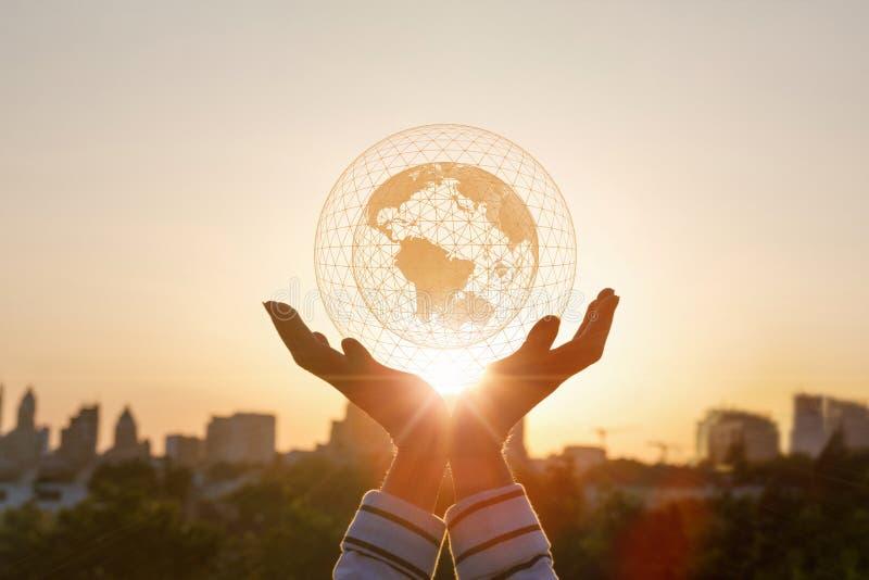 Verbinding van het concepten de Globale netwerk royalty-vrije stock afbeelding