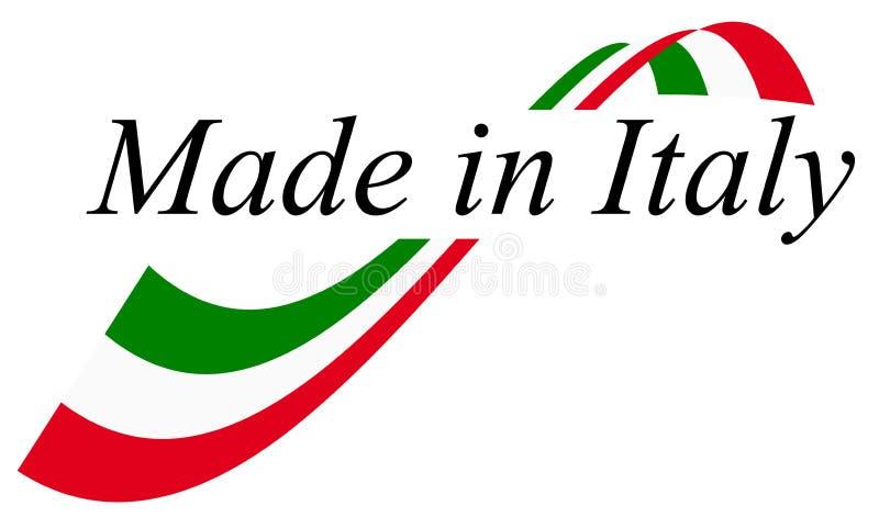 verbinding van kwaliteit IN ITALIË wordt GEMAAKT dat royalty-vrije illustratie