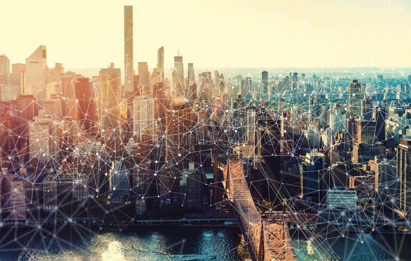 Verbindingen met de Stad van New York royalty-vrije stock foto's