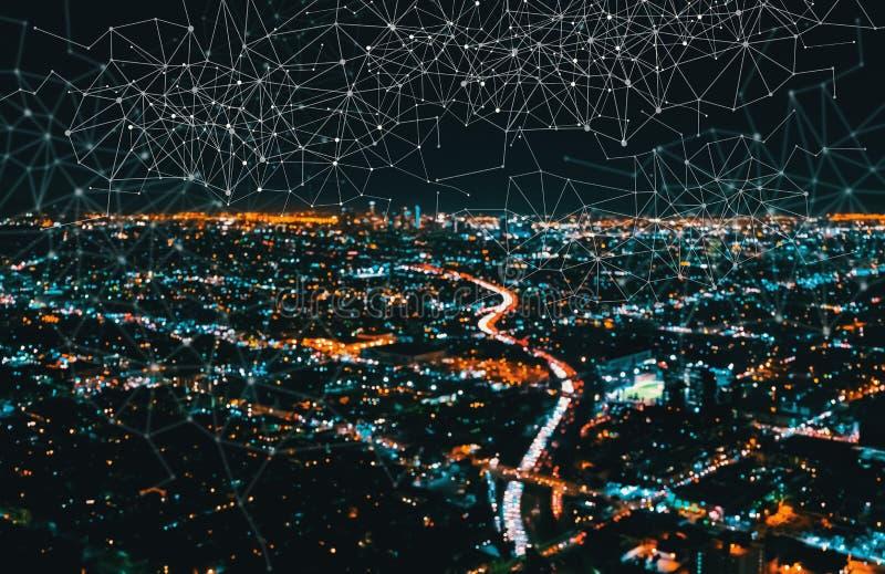 Verbindingen met Los Angeles Van de binnenstad stock afbeeldingen