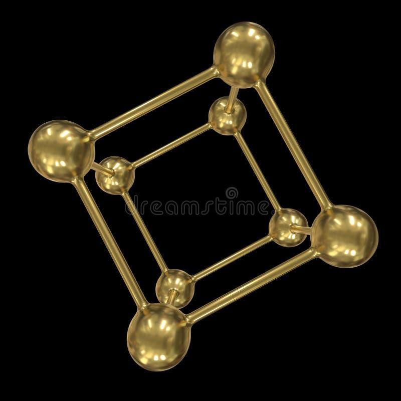 Verbindingsstructuur voor molecuulraster vector illustratie