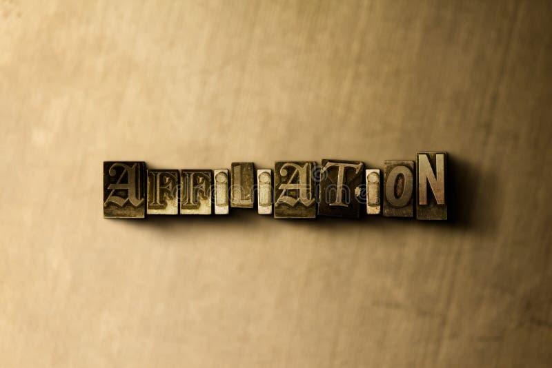 VERBINDUNG - Nahaufnahme des grungy Weinlese gesetzten Wortes auf Metallhintergrund lizenzfreie abbildung