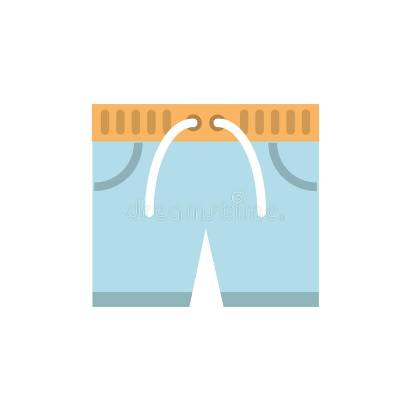 in Verbindung stehende Ikone der Schwimmenkurzen hosen lizenzfreie abbildung