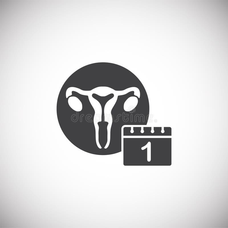 In Verbindung stehende Ikone der Wiedergabe auf Hintergrund für Grafik und Webdesign Einfache Abbildung Internet-Konzeptsymbol f? stock abbildung