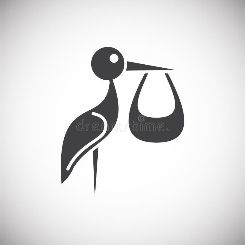 In Verbindung stehende Ikone der Wiedergabe auf Hintergrund für Grafik und Webdesign Einfache Abbildung Internet-Konzeptsymbol f? lizenzfreie abbildung