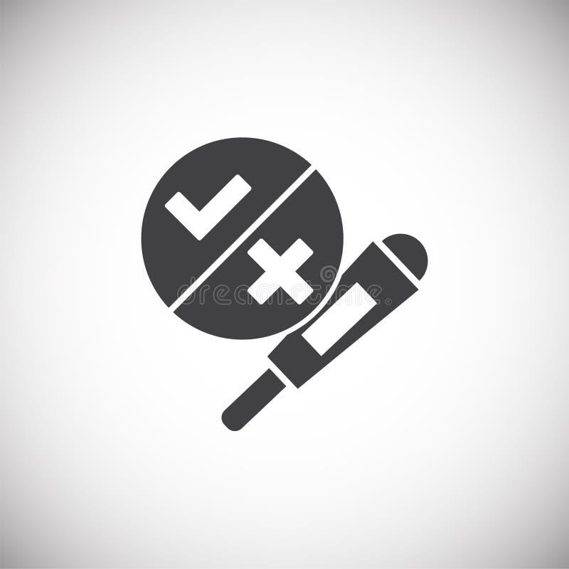 In Verbindung stehende Ikone der Wiedergabe auf Hintergrund für Grafik und Webdesign Einfache Abbildung Internet-Konzeptsymbol f? vektor abbildung